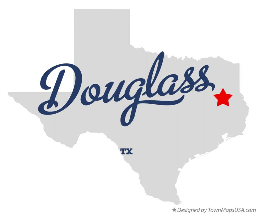 Map of Douglass Texas TX