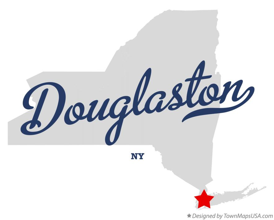 Map of Douglaston New York NY