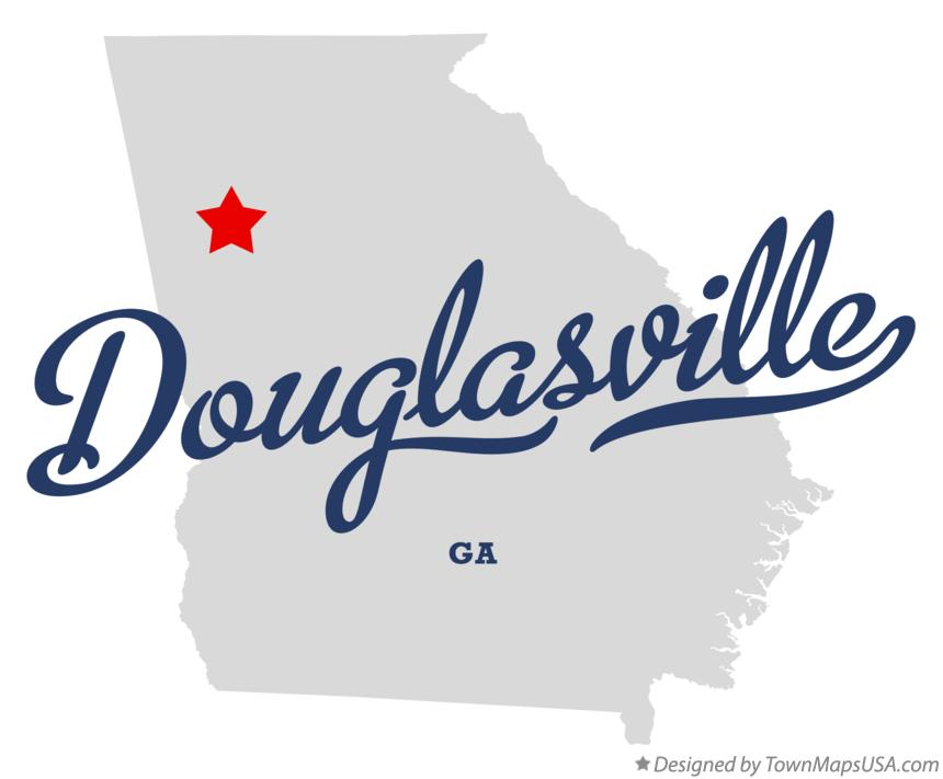 Austell Georgia Map Map of Douglasville Georgia ga