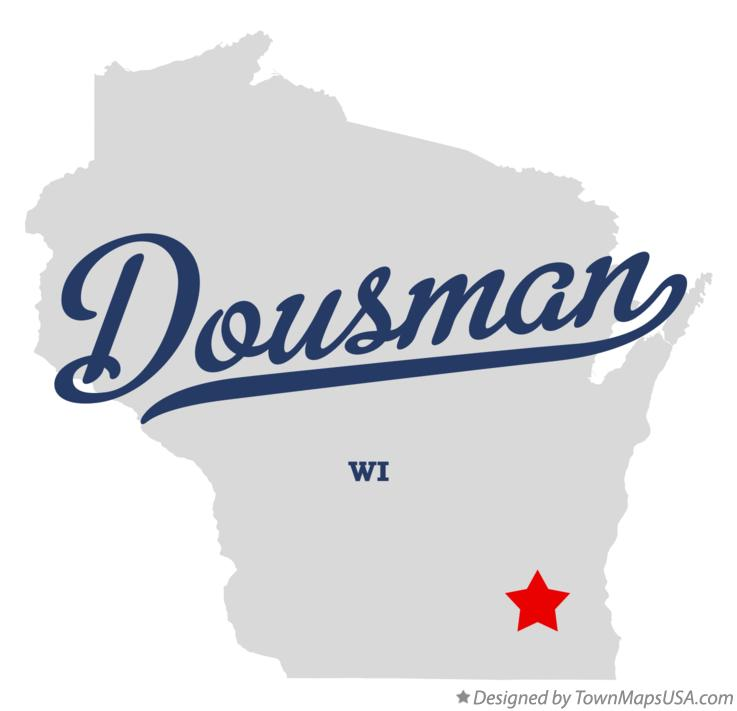 Map of Dousman Wisconsin WI