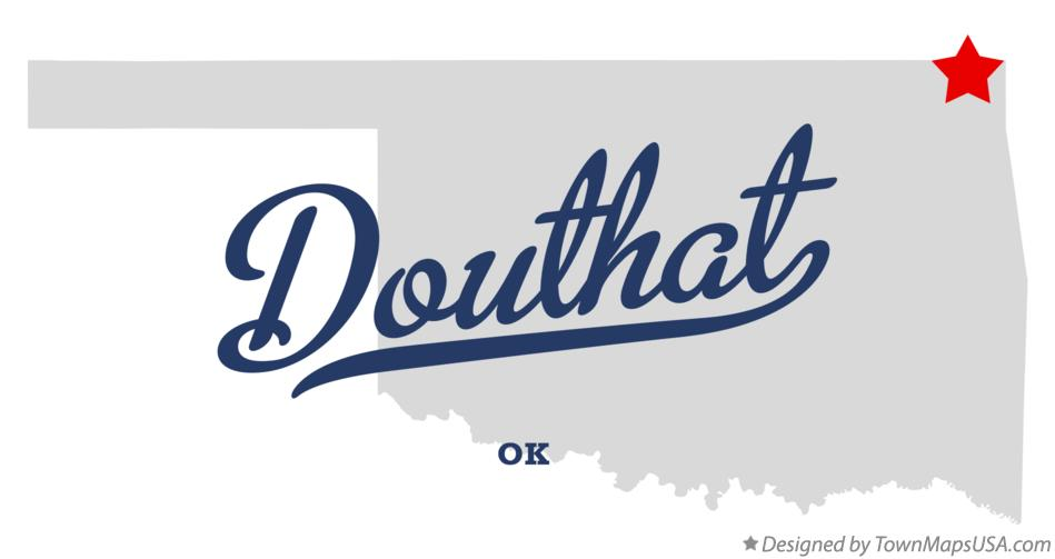 Map of Douthat Oklahoma OK