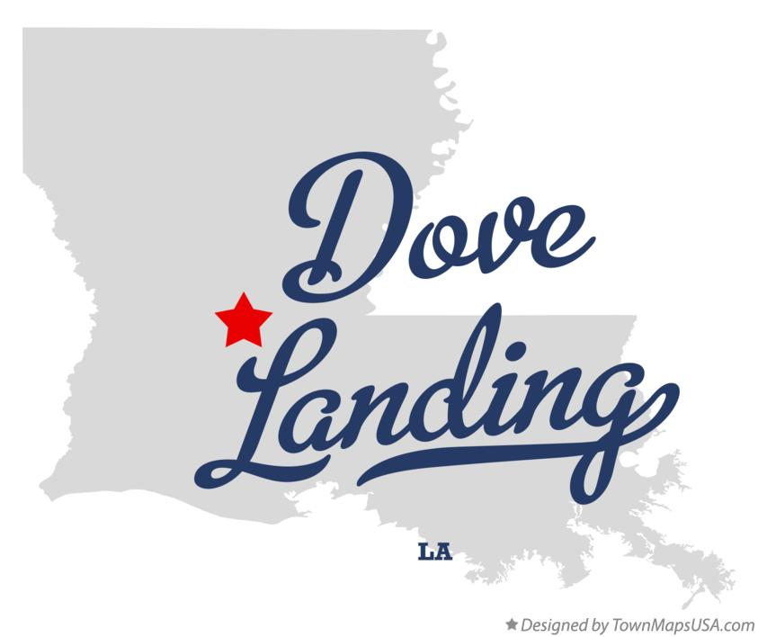 Map of Dove Landing Louisiana LA