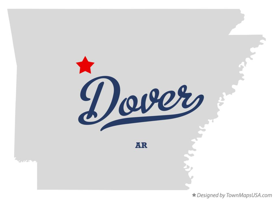 Map of Dover Arkansas AR