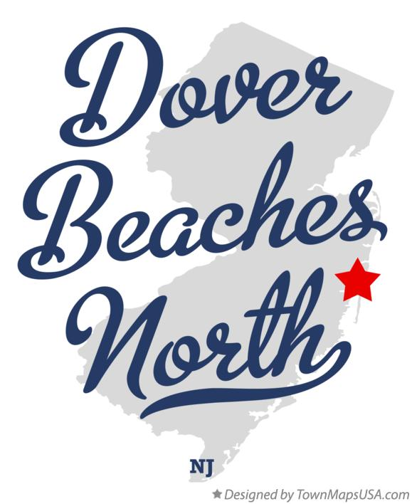 Map of Dover Beaches North New Jersey NJ