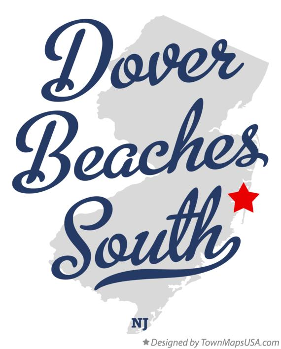 Map of Dover Beaches South New Jersey NJ