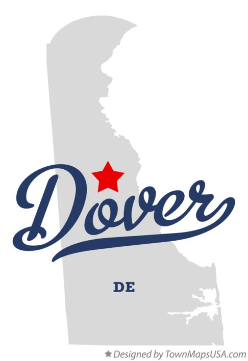 Map of Dover, DE, Delaware Dover Delaware Map on
