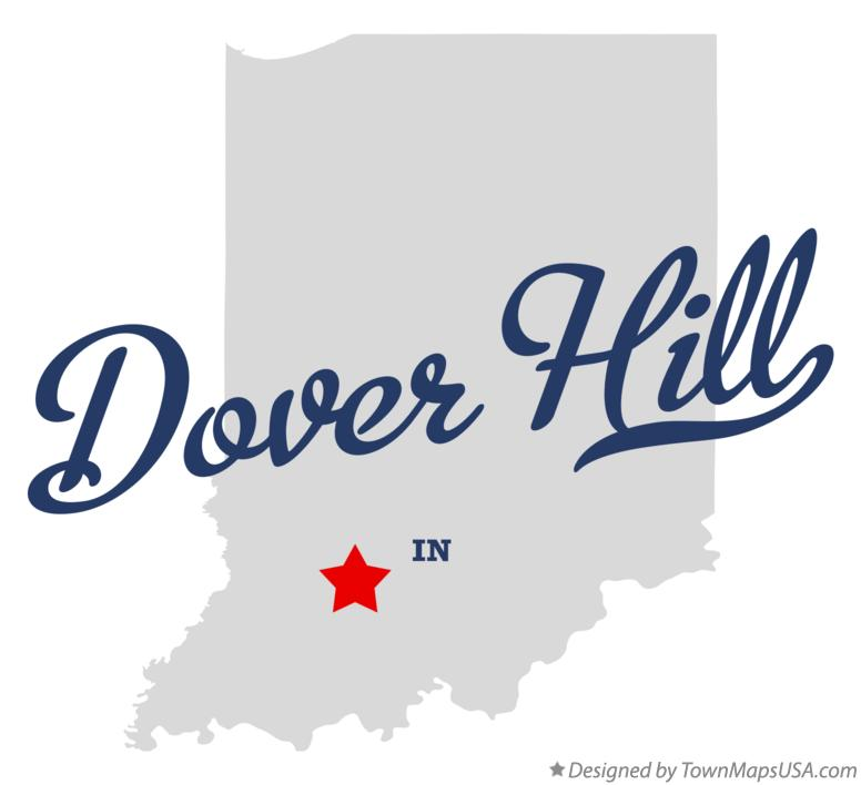 Map of Dover Hill Indiana IN