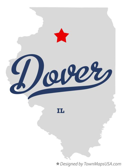 Map of Dover Illinois IL