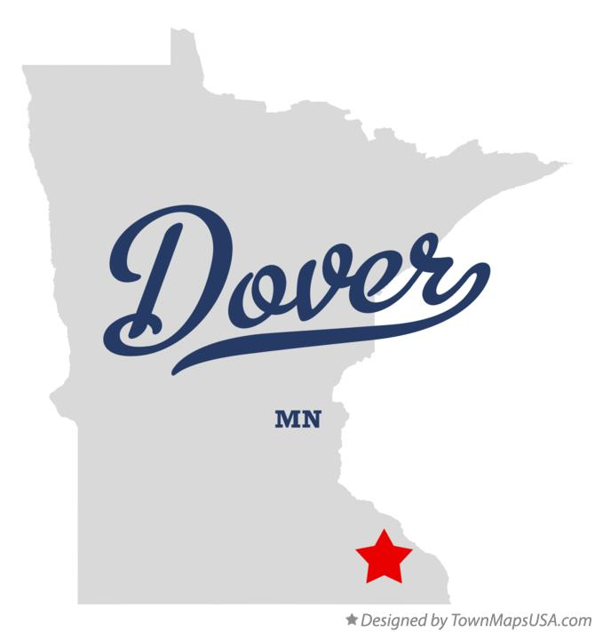 Map of Dover Minnesota MN