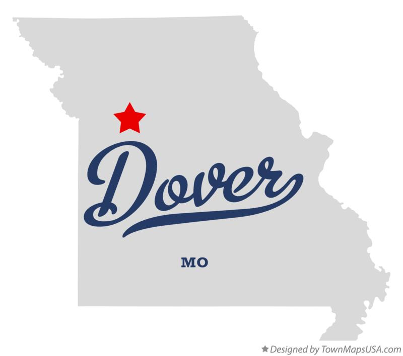 Map of Dover Missouri MO