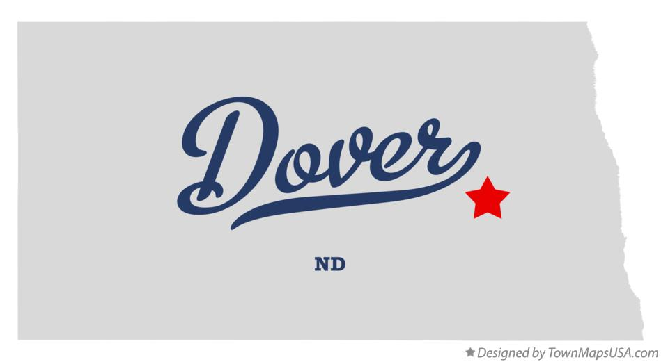 Map of Dover North Dakota ND
