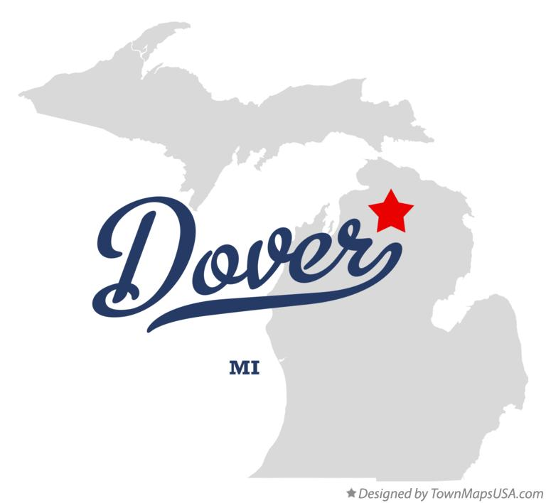 Map of Dover Michigan MI