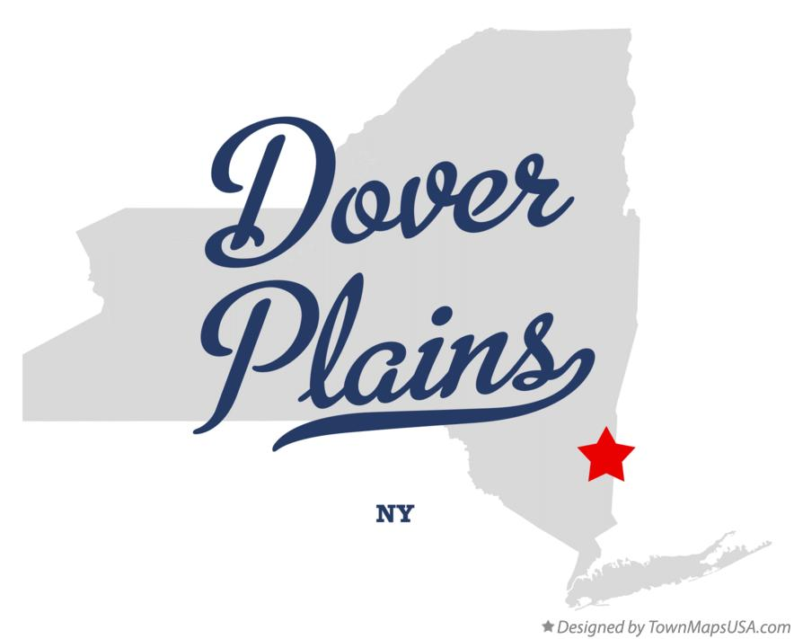 Map of Dover Plains New York NY