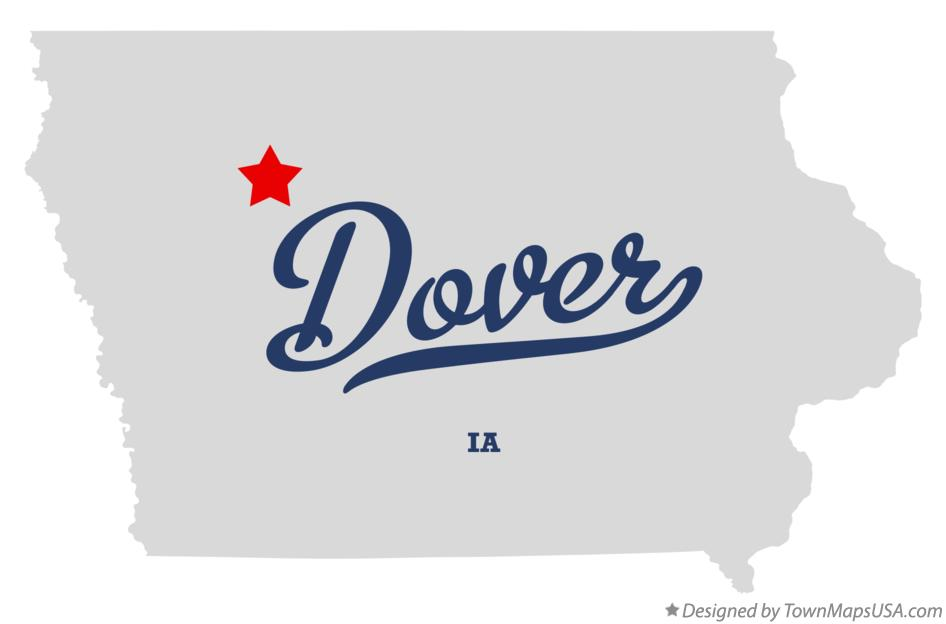 Map of Dover Iowa IA