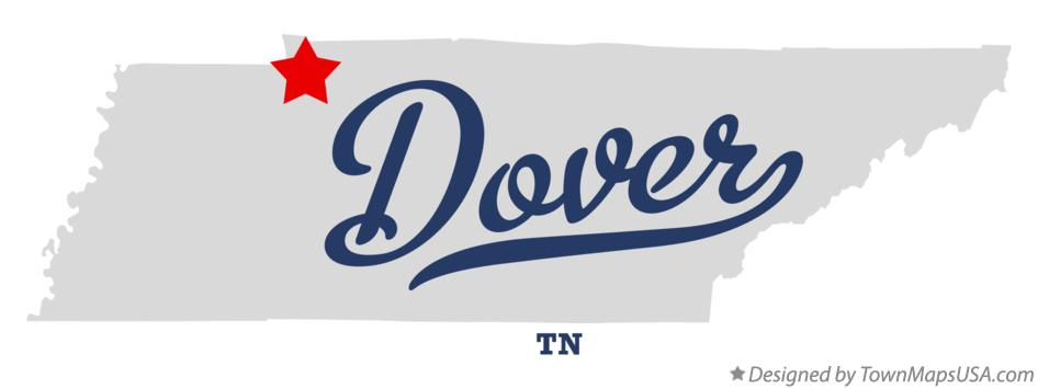 Map of Dover Tennessee TN