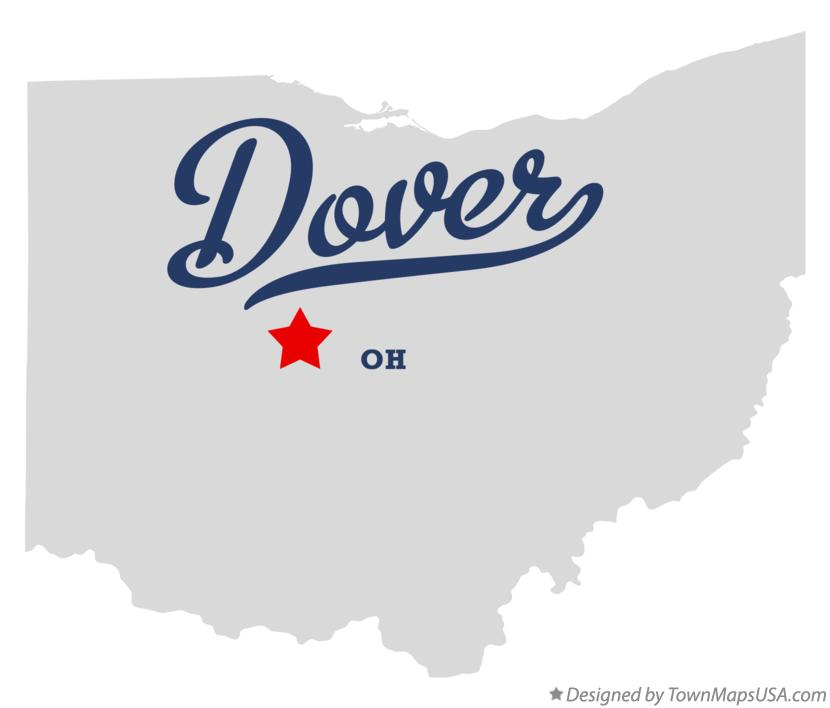 Map of Dover Ohio OH