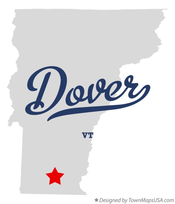 Map of Dover Vermont VT