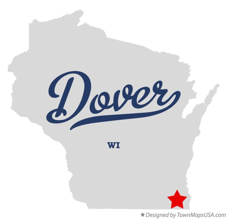 Map of Dover Wisconsin WI