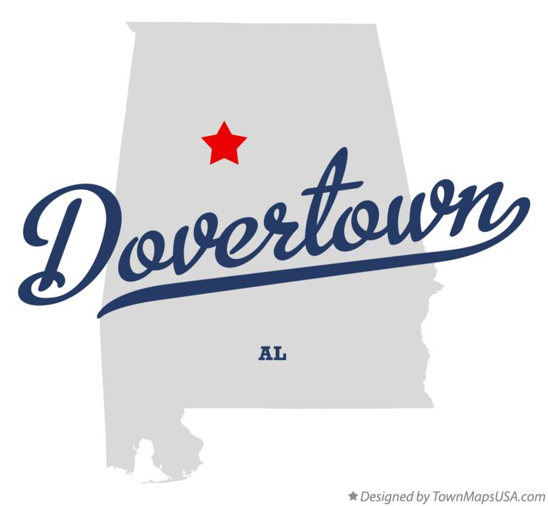 Map of Dovertown Alabama AL