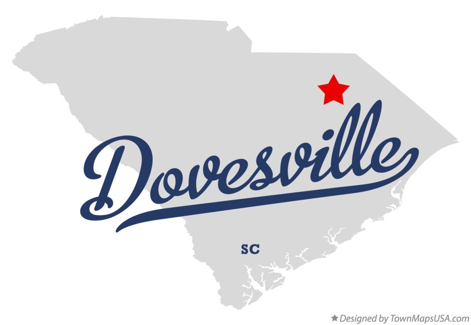 Map of Dovesville South Carolina SC