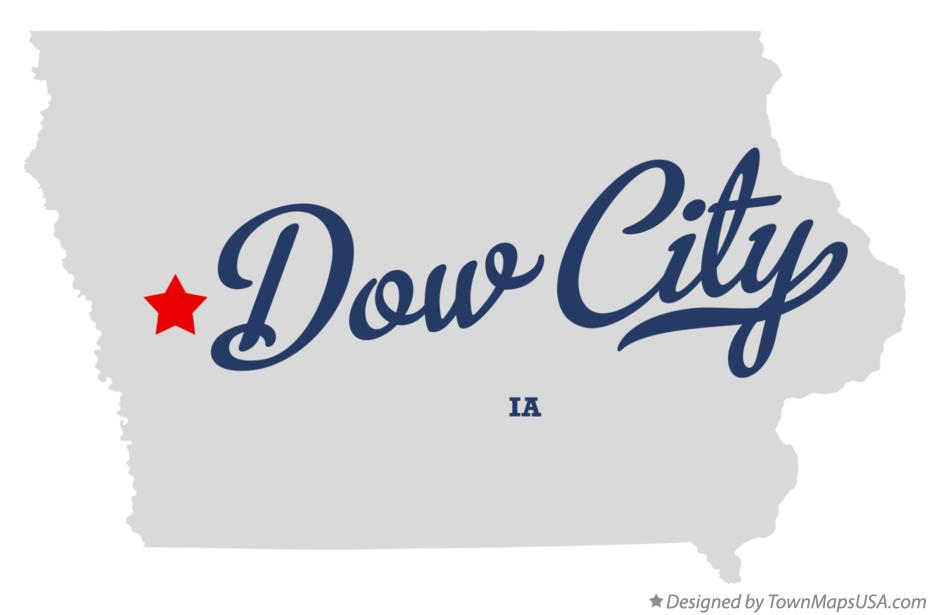 Map of Dow City Iowa IA