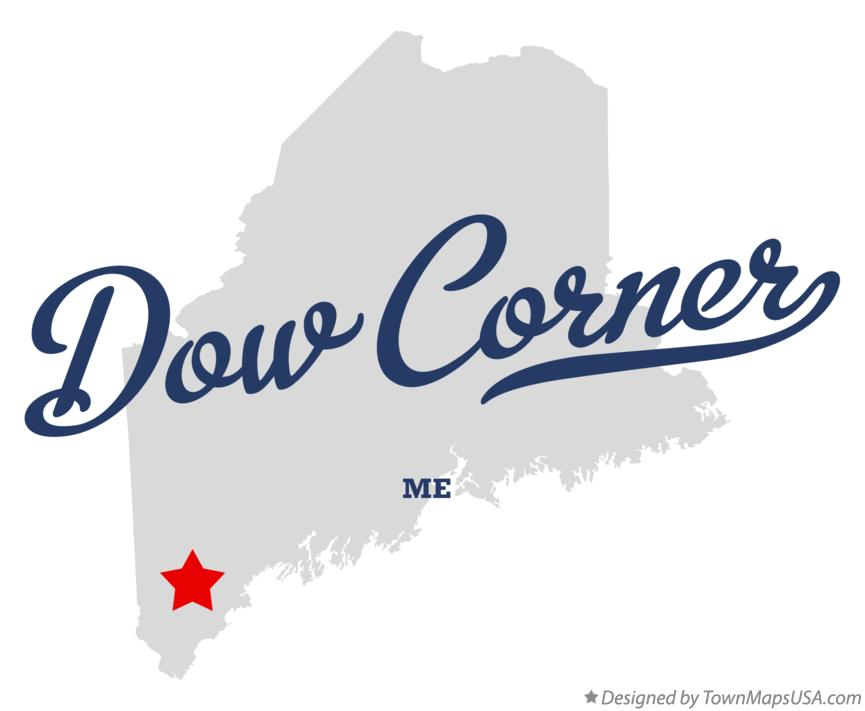 Map of Dow Corner Maine ME