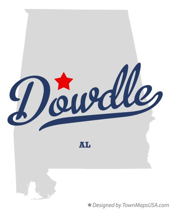 Map of Dowdle Alabama AL