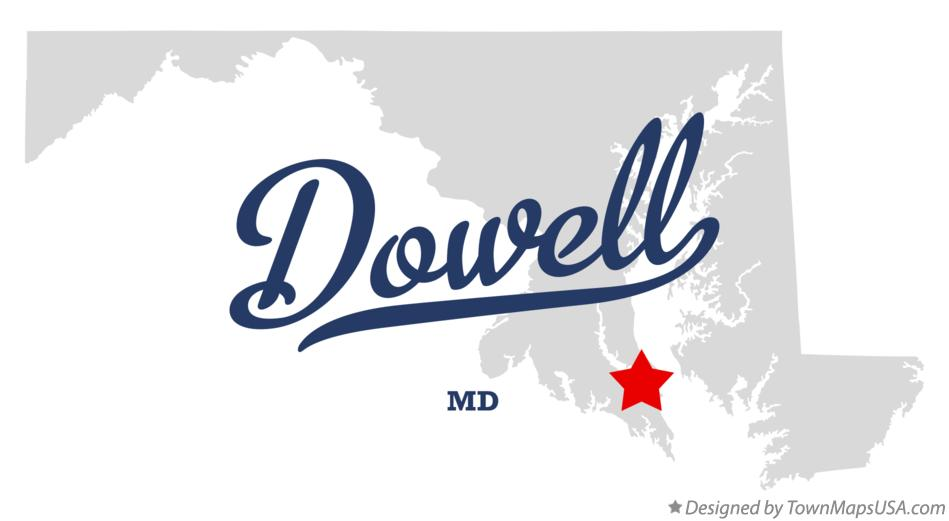 Map of Dowell Maryland MD
