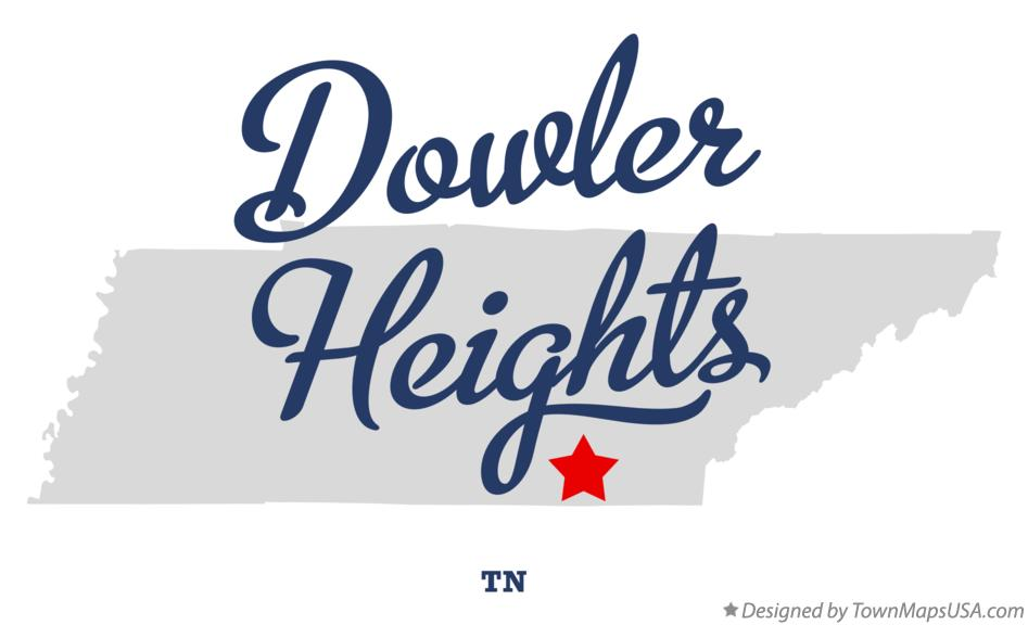 Map of Dowler Heights Tennessee TN
