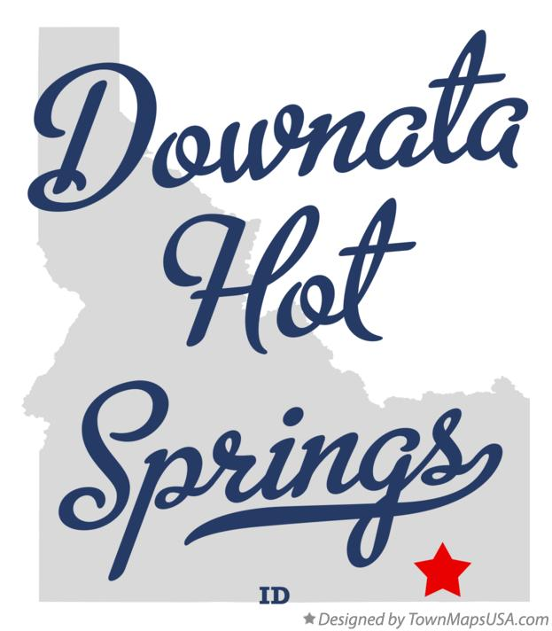 Map of Downata Hot Springs Idaho ID