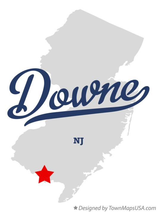 Map of Downe New Jersey NJ