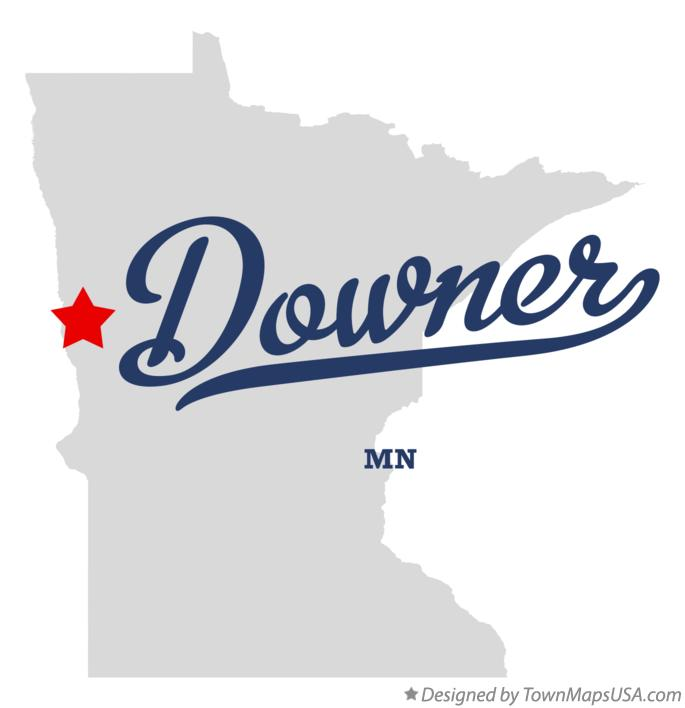 Map of Downer Minnesota MN