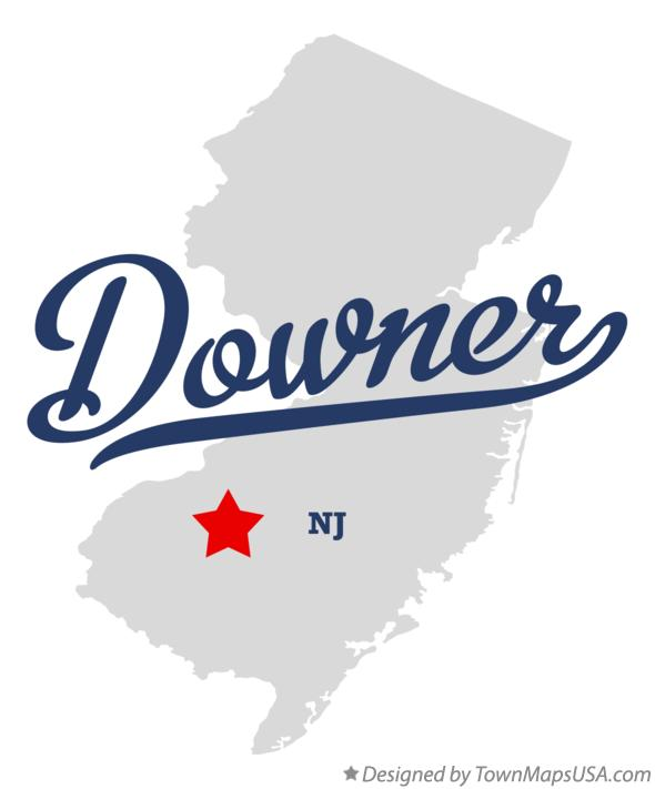 Map of Downer New Jersey NJ