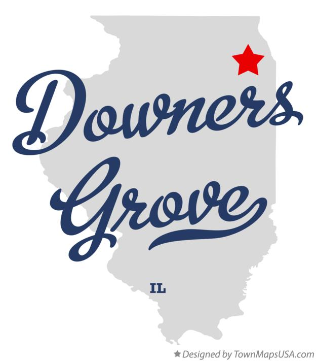 Map of Downers Grove Illinois IL