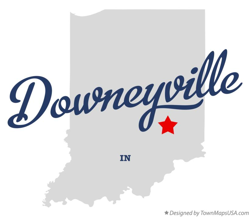 Map of Downeyville Indiana IN