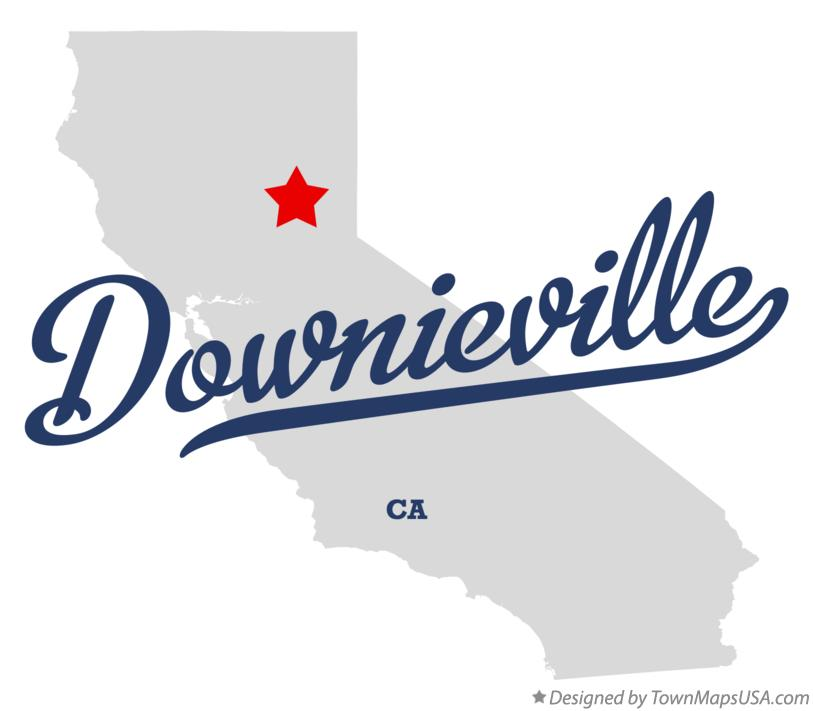 Map of Downieville California CA