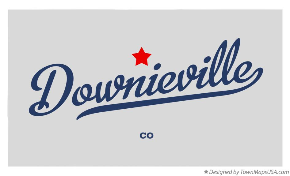 Map of Downieville Colorado CO