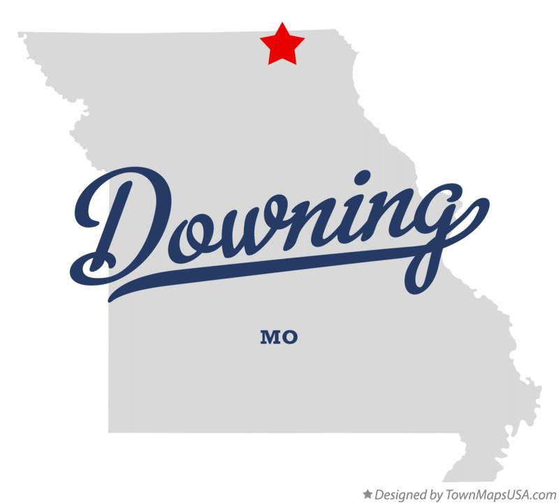 Map of Downing Missouri MO