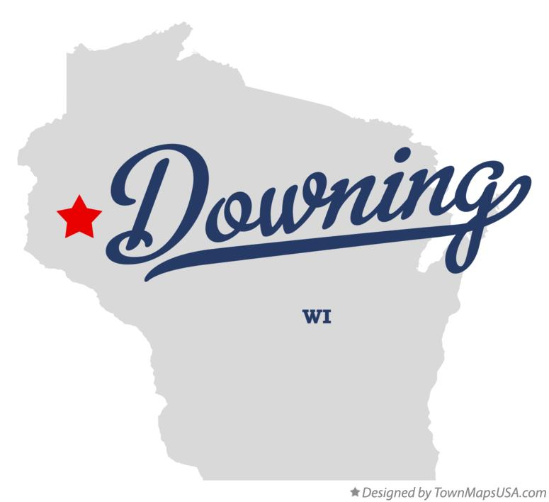 Map of Downing Wisconsin WI