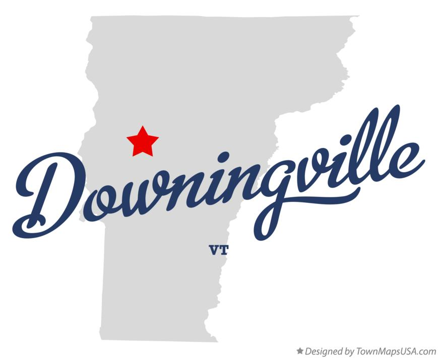 Map of Downingville Vermont VT