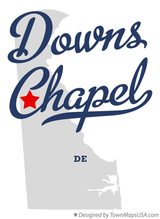 Map of Downs Chapel Delaware DE