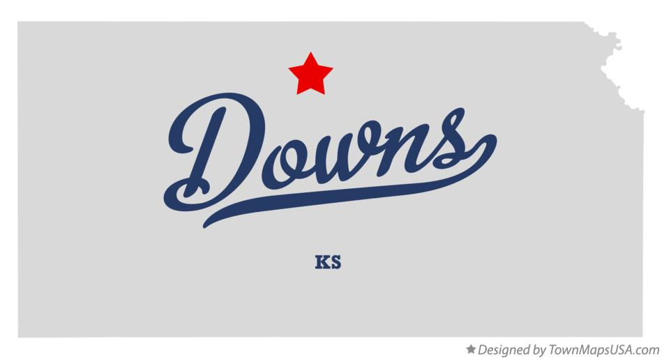 Map of Downs Kansas KS