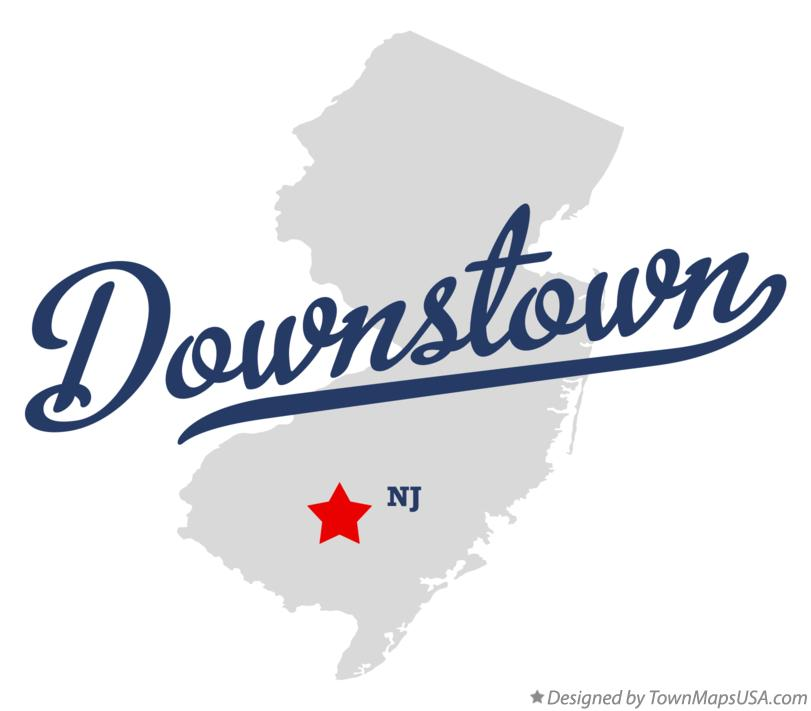 Map of Downstown New Jersey NJ