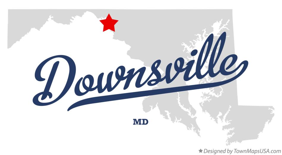 Map of Downsville Maryland MD
