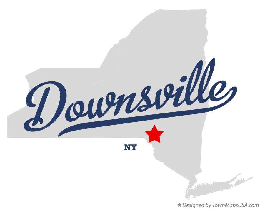 Map of Downsville New York NY