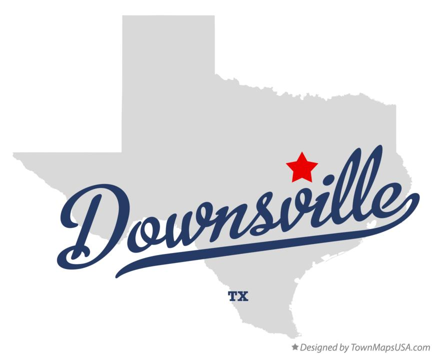 Map of Downsville Texas TX