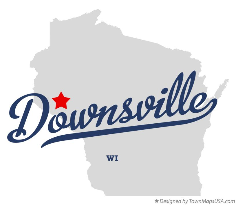 Map of Downsville Wisconsin WI