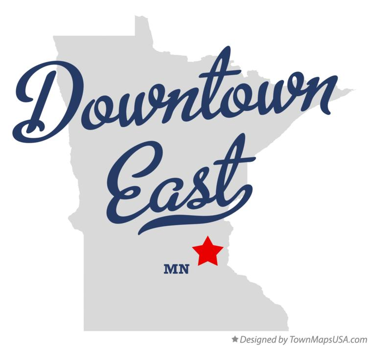Map of Downtown East Minnesota MN