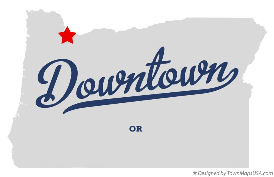 Map of Downtown Oregon OR