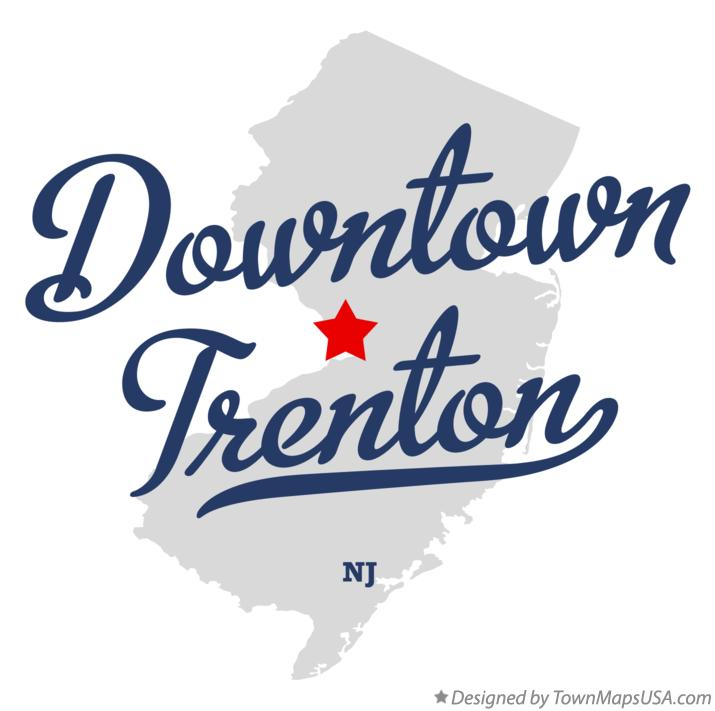 Map of Downtown Trenton NJ New Jersey